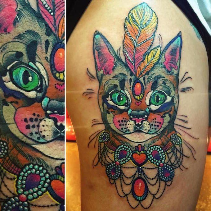 Best Tattoo Images On Pinterest Tatoos Tattoo Art And Tattoo - Polish artist creates elegant animal tattoos finished in vibrant colours