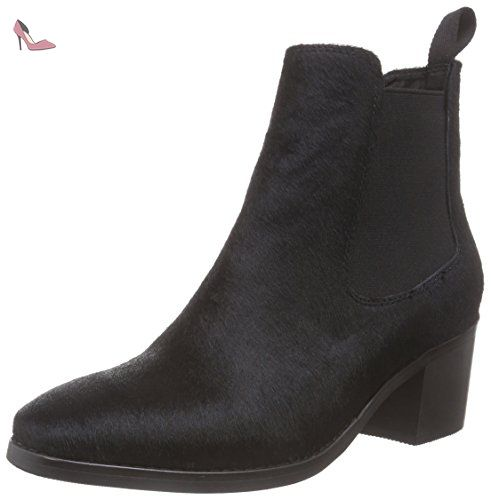 JY16R30-1, Bottes Courtes Femme - Noir - Noir, 38Giudecca