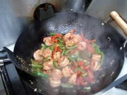 Spicy dishes are a popular choice among Chinese restaurant goers today. This spicy shrimp stir fry is similar to Sichuan shrimp