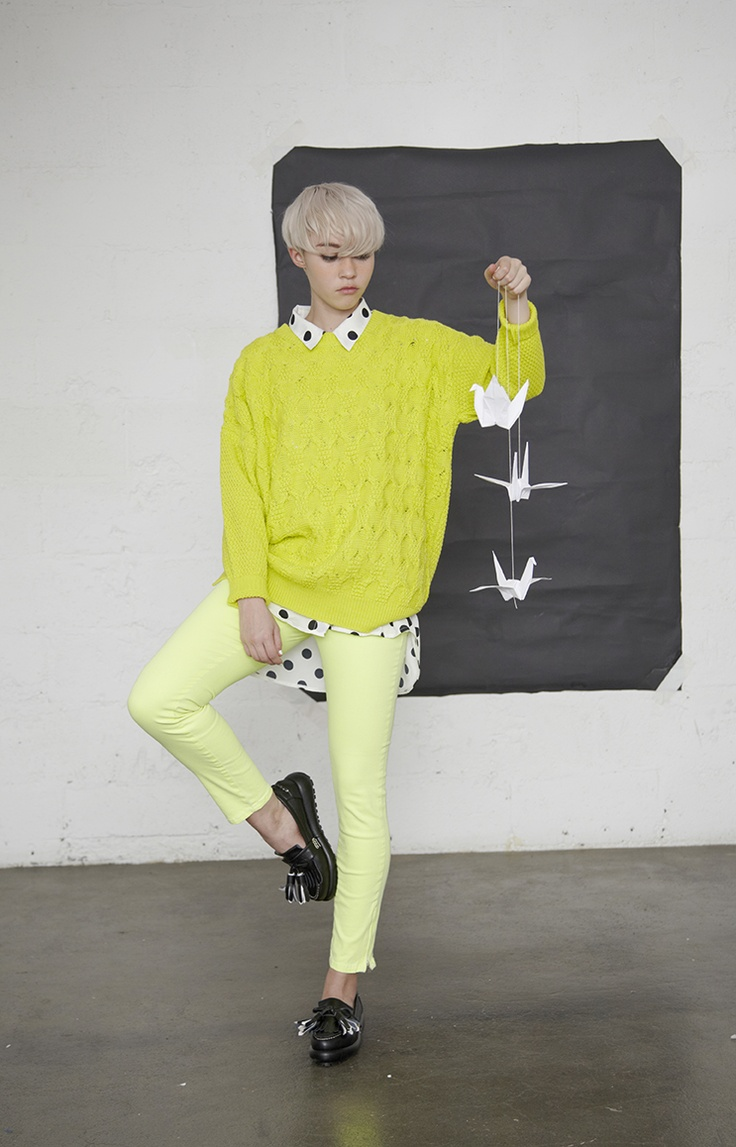 http://www.thewhitepepper.com/collections/bottoms/products/neon-yellow-zip-up-side-trousers