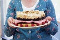 91: Chocolate Brownie Meringue Cake by Miranda Gore-Brown