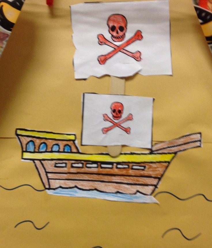 Thema Piraten - Piratenboot