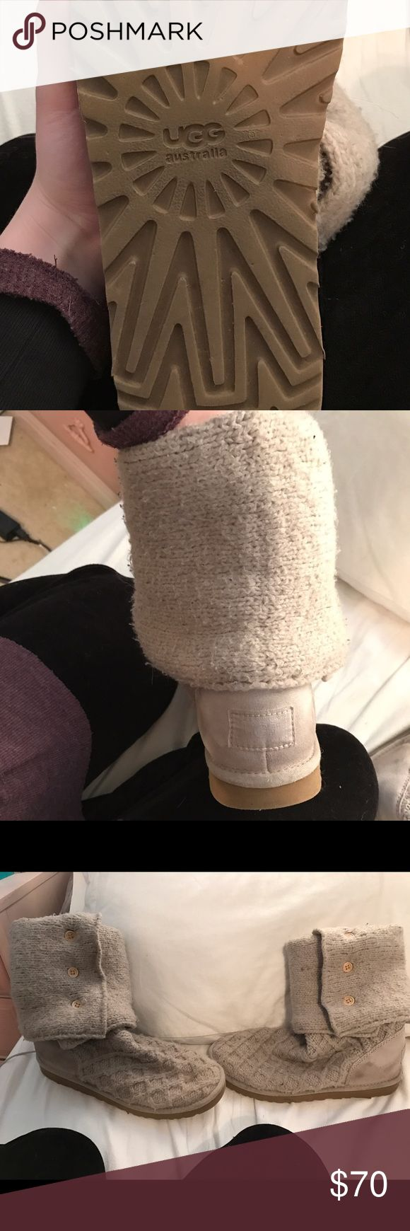 UGG sweater boots size ten !!!! Women's UGGS size 10 sweater boots, good condition and good taken care off. Make offers UGG Shoes Winter & Rain Boots