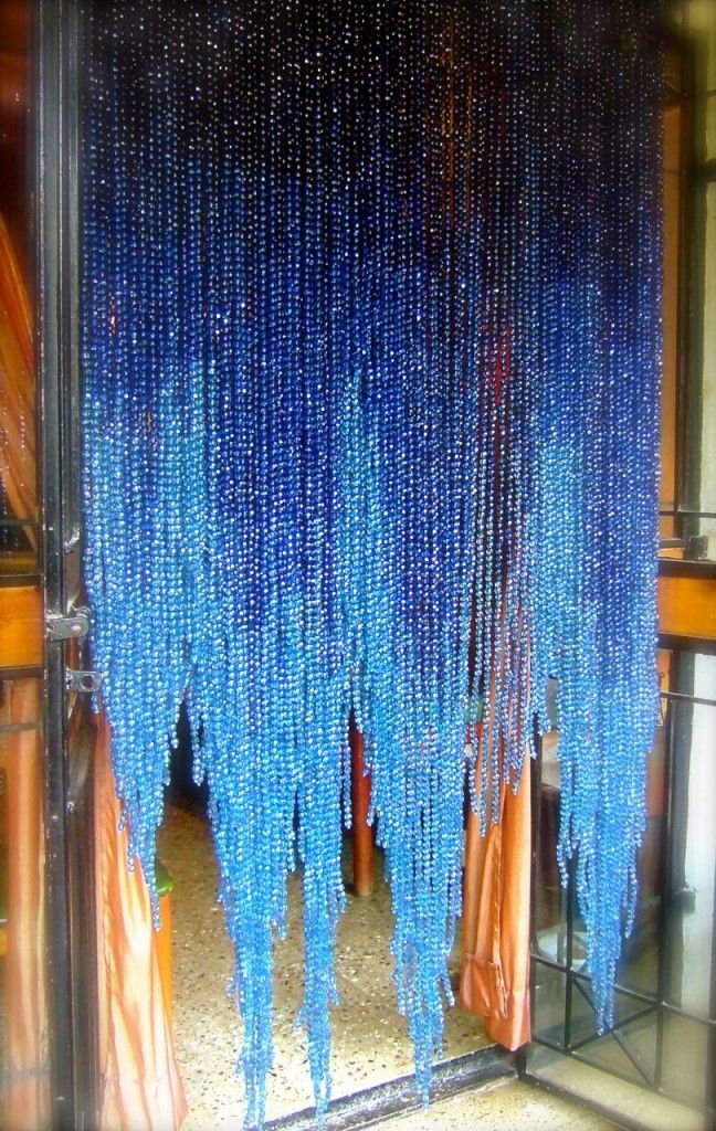 Blue Ombre Acrylic Crystal Handkerchief Base Bead Curtain In 2020