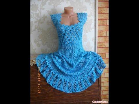 Платье крючком (по мотивам платья Антония Ванессы Монторо) - YouTube