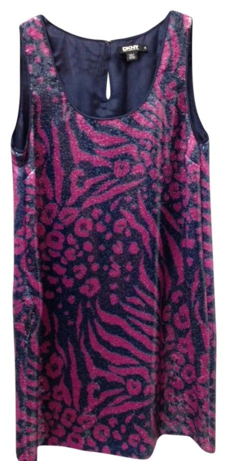 DKNY Blue Pink Sequins Animal Print Sz M Dress. Free shipping and guaranteed authenticity on DKNY Blue Pink Sequins Animal Print Sz M DressSequin animal print sequin DKNY dress...