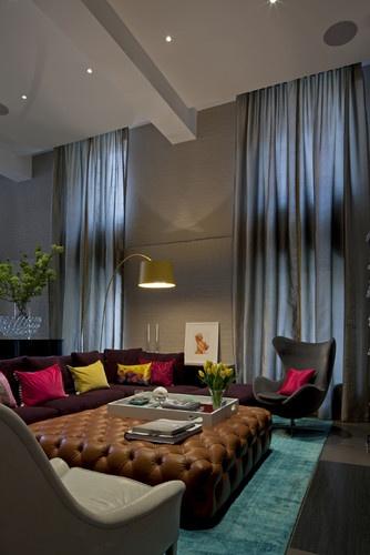 Tribeca Loft contemporary living room