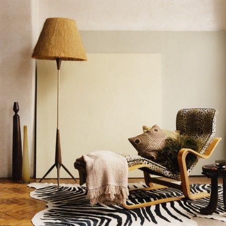 lounge sessel afrikanischer stil