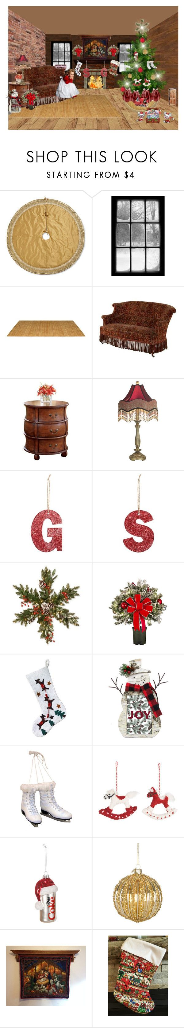 """""""Nativity Wall Hanging"""" by bamasbabes ❤ liked on Polyvore featuring Frontgate, Butler Specialty Company, Dale Tiffany, Pottery Barn, National Tree Company, Improvements, NOVICA, St. Nicholas Square, Kurt Adler and Amica"""