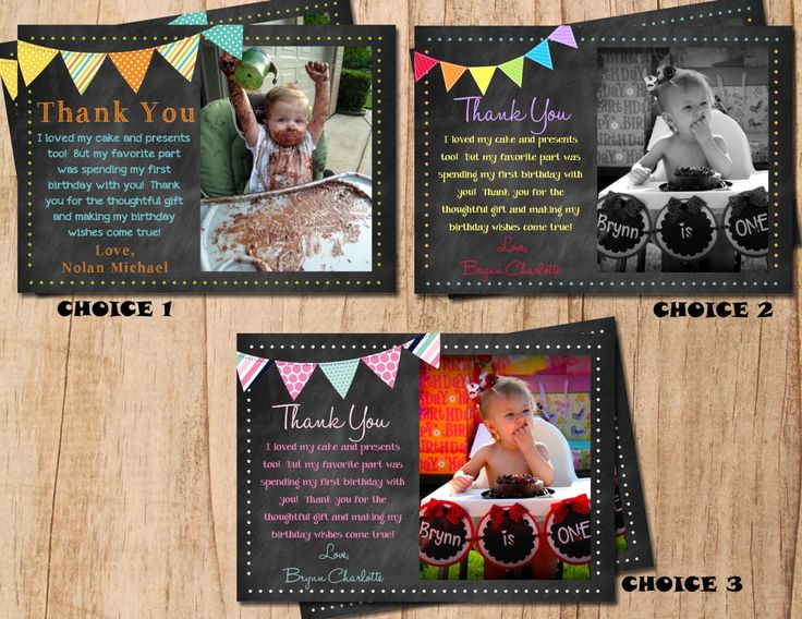 Chalkboard Photo Bunting Birthday Thank You Card . Printable Thank You Note . JPEG or PDF File . Personalized by MoonshyneDesigns on Etsy https://www.etsy.com/listing/185205340/chalkboard-photo-bunting-birthday-thank