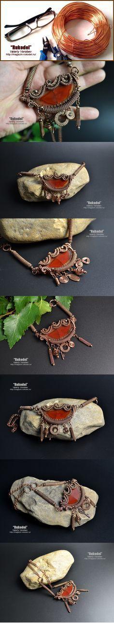 Ожерелье из проволоки своими руками. | Рукодел