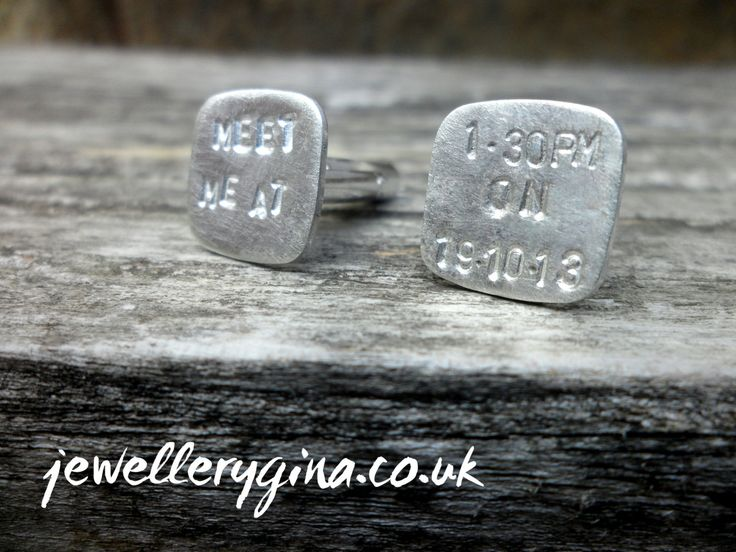 Personalised Wedding Cufflinks by JewelleryGina on Etsy,