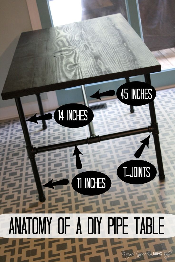 LOVE IT! DIY Pipe Table--full tutorial by Designer Trapped in a Lawyer's Body. #pipetable