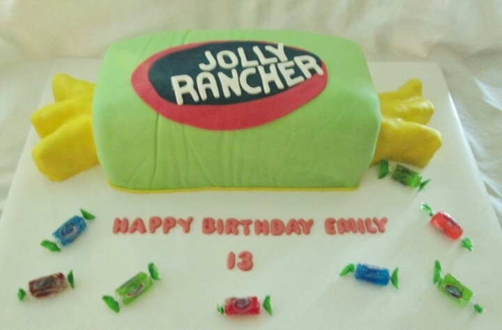 jolly rancher bithday cake