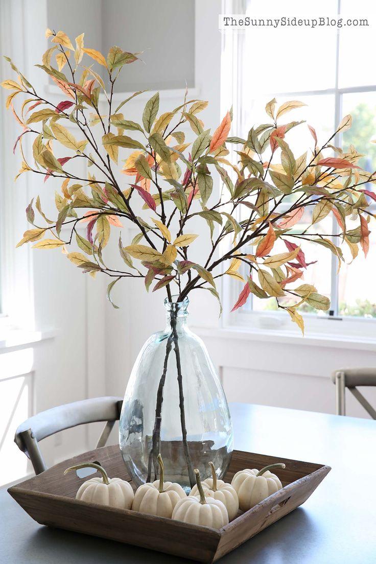 31 Amazing Herbst Dekoration Ideen mit weißen Kürbissen