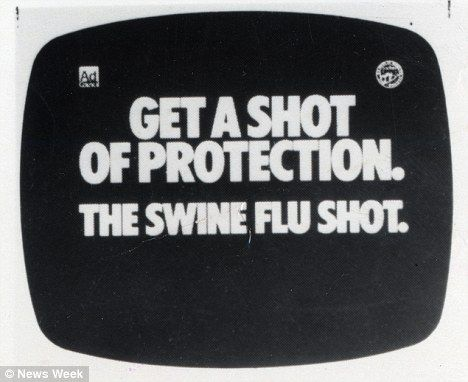 America swine flu 1976. I love these kind of articles that talk about how dangerous the vaccine is ...and how many more people died from the vaccine than the actual swine flu and how our government paid out millions to those injured by this vaccine #vaccineskill