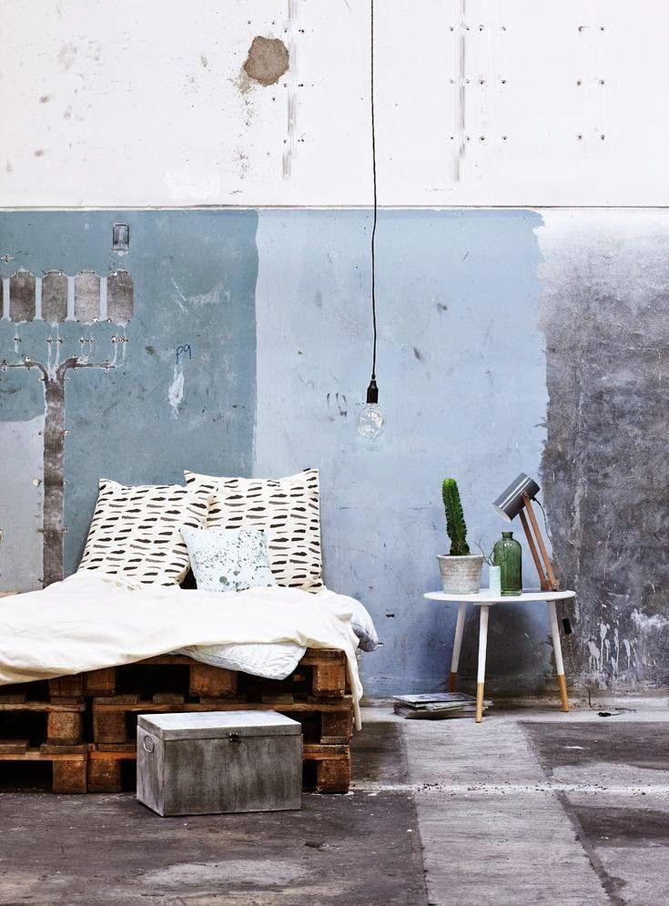 Bedrooms: The taste of Petrol and Porcelain | Interior design, Vintage Sets and Unique Pieces www.petrolandporcelain.com Danemark / Sostrene Grene : collection 2015 /