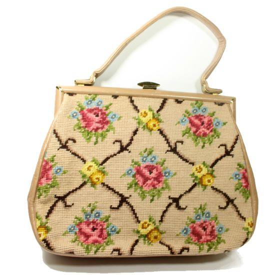 Tapestry-bloemen-vintage-tasje -Bagging for Classic