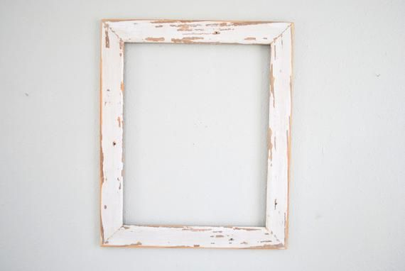 16 X 20 Chippy White Tear Drop Siding Frame Reclaimed Old Etsy Old Cottage Repurposed Items Frame