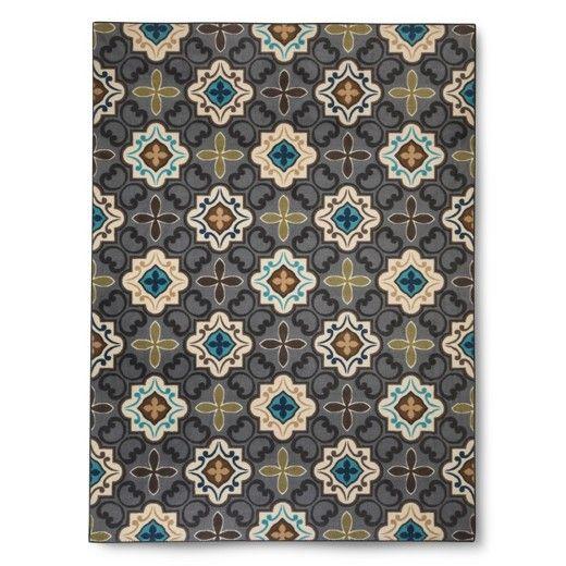 Multi Moroccan Tile Area Rug - Grey (5'x7') - Threshold™ : Target
