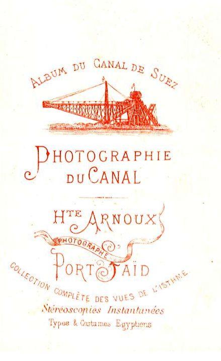 ARNOUX Hte, Photographie du Canal - Port Saïd -  Egypte