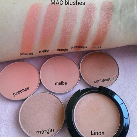 @maccosmetics #macblushes #peaches #melba #margin #sunbasque #linda  #macjuliapetit #macpeaches #maclinda #macsunbasque #macmelba #macmargin #ilovemac #ilovemakeup #macaddict #iheartmac #beautybreeze_sv #thebeautyacct  #weloveswatches #iheartmakeup #blushes #maccosmetics #MAC