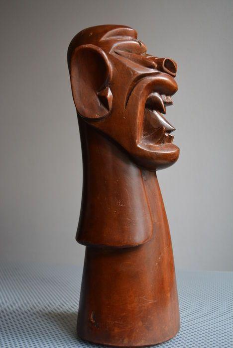Nu in de #Catawiki veilingen: Brazilian Carranca - uit  hout met de hand gesneden - Carranca dat gebruikt wordt om...