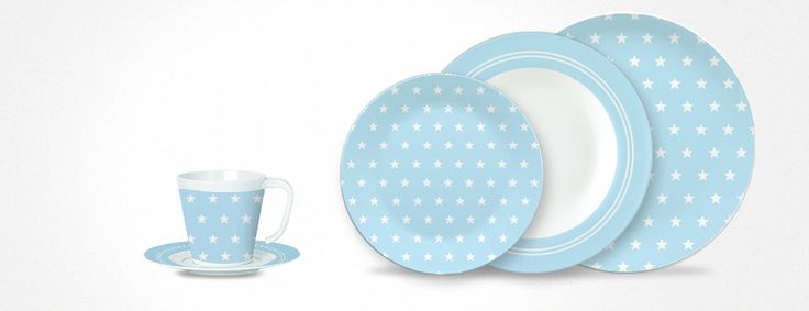 Summerstars light blue - Melamin Geschirr für Camping und Outdoor