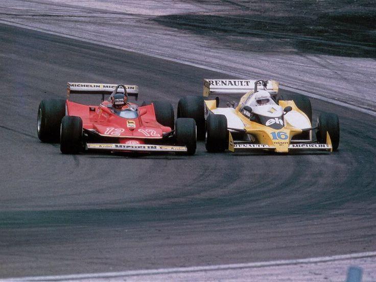 Villeneuve and Arnoux at Dijon 1979. Best dogfight ever.