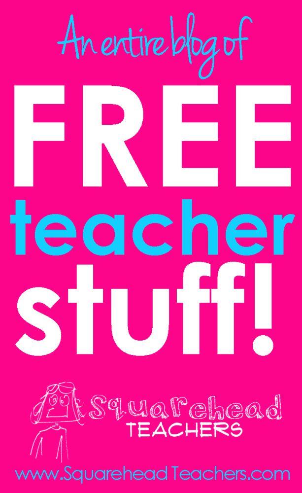 Squarehead Teachers: An entire blog of free teacher stuff!