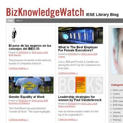 Posts on our blog BizKnowledge Watch.