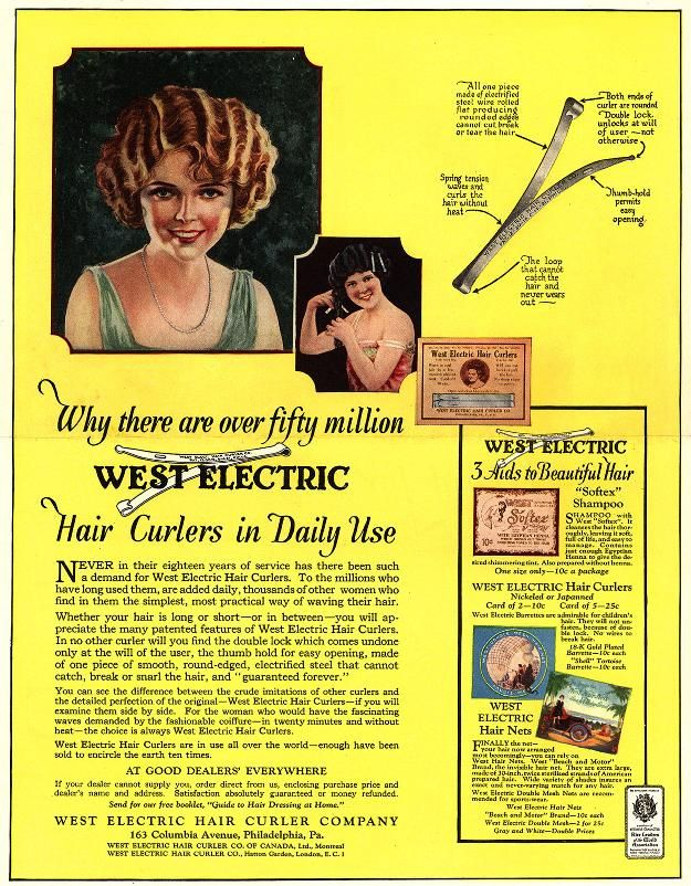 Why there are over fifty million West Electric Hair Curlers in Daily Use Ad
