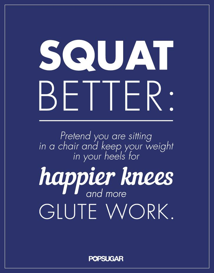 Squats are probably the exercise that I have the worst form... - A Butt-Lifting Tip to Remember Every Time You Do a Squat