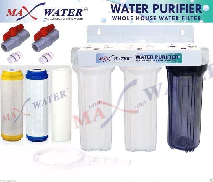 "3 Stage 10"" Whole House Water Softening Filter, Softener, Reduce Remove Hardness"