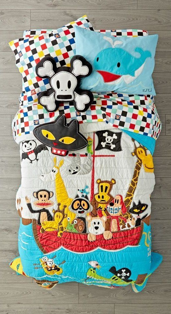 Shop Paul Frank Friends by Sea Bedding.  The lovable characters from the world of Paul Frank come to life on this bright and playful kids' bedding set. #LuxuryBeddingLinens