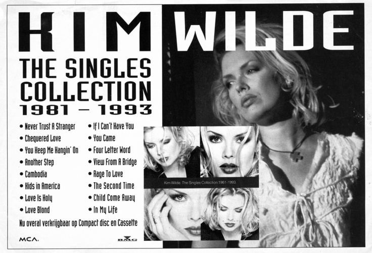 'The Singles Collection 1981-1993' Netherlands advert, 1993