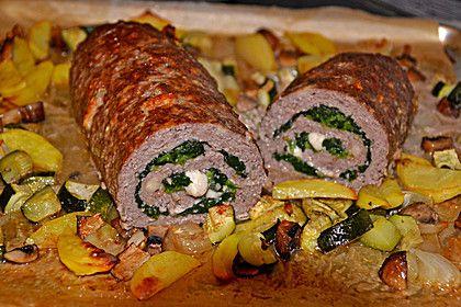 Hackbraten - Roulade mit Spinat (Rezept mit Bild) | Chefkoch.de