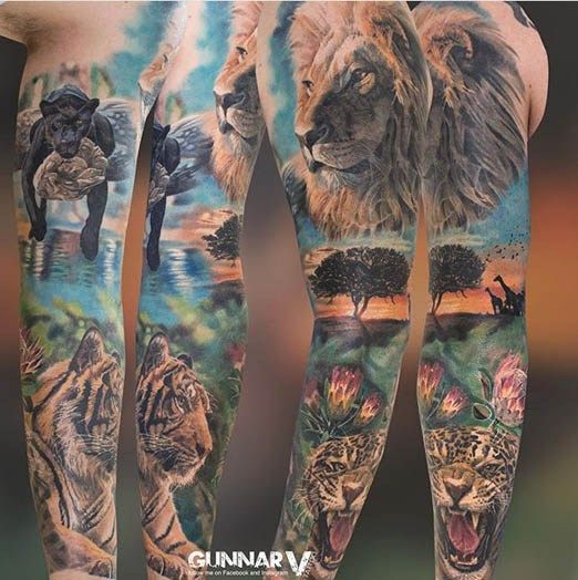 A Jungle Of Big Cat Designs: 17 Best Ideas About Cat Tattoo Designs On Pinterest