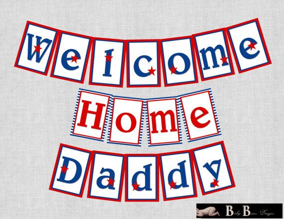 Military/Patriotic Welcome home/Homecoming by BabyBunsDesigns, $6.50
