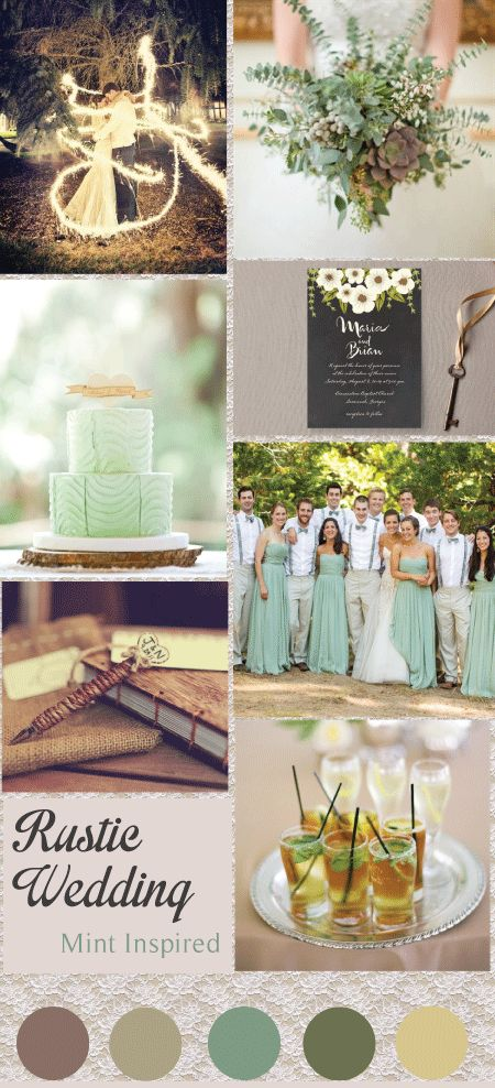 Mint Inspired Rustic Wedding #VOWbride