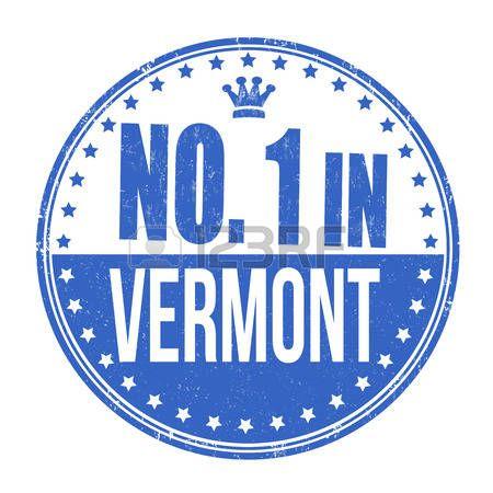 Número uno en Vermont grunge sello de goma en el fondo blanco, ilustración vectorial