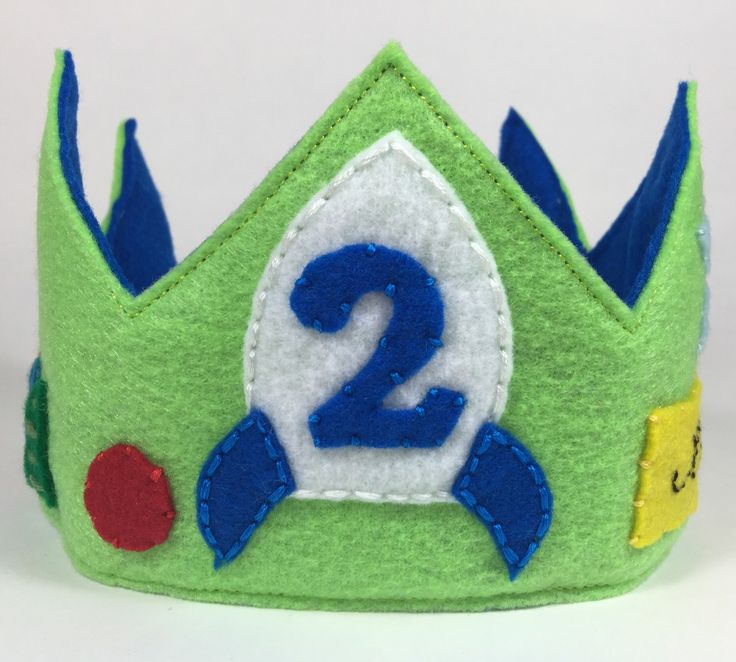 Buzz Lightyear Felt Birthday Crown - Toy Story Birthday - Smash Cake by HedsThreads on Etsy https://www.etsy.com/listing/196724726/buzz-lightyear-felt-birthday-crown-toy