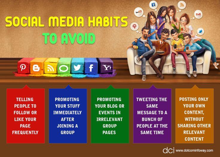 Social Media Habits To Avoid!