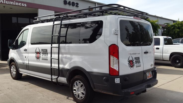 Ford Transit With Aluminess Roof Rack And Ladder Going To
