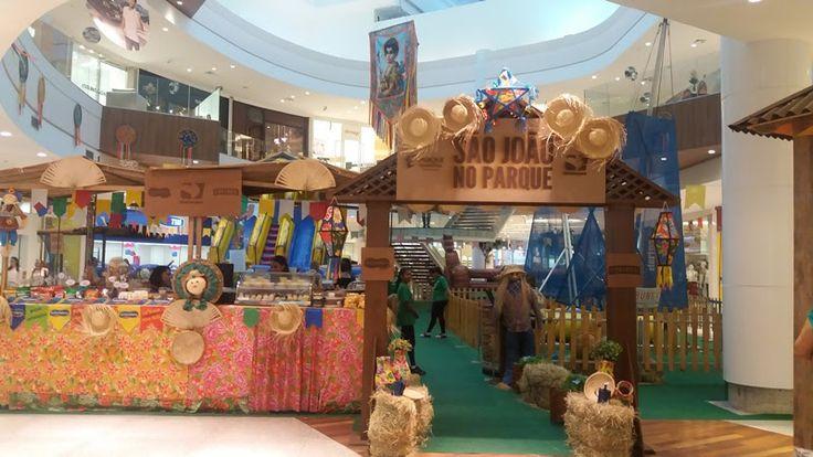 Vila junina, circo, piscina de bolinhas e recreação são atrações de junho para a garotada no Parque Shopping