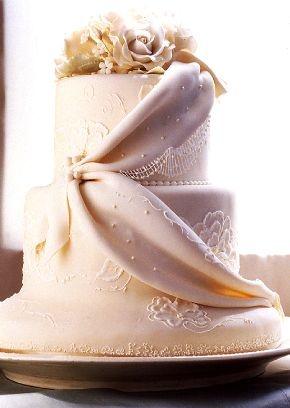 Wedding cake: sometimes, they do amazing things with fondant.