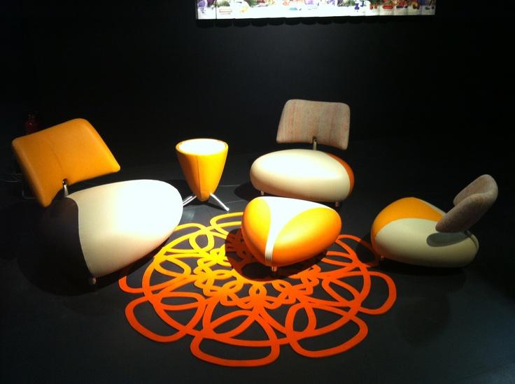Pallone family | Leolux #Design #Leolux #Orange #Black #201605