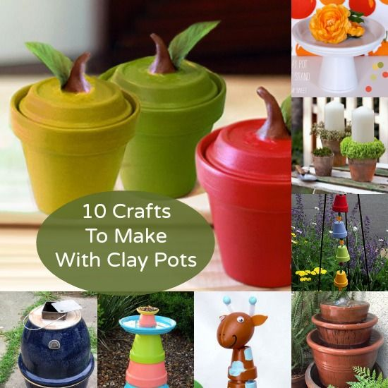 10 Crafts to Make With Clay Pots (Other Than Planting!)
