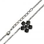 Collier à sertir de cristaux swarovski elements. Ce collier fleur à sertir mettra parfaitement en valeur vos cristaux Swarovski Elements rond 1028 ou 1088. Choississez simplement vos couleurs préférées et sertissez les 5 cristaux Swarovski Elements de 8mm/SS39 et 1 de 6mm/SS29 puis fixez le tout très facilement à l'aide d'une pince adaptée !