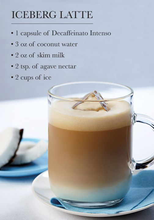 This Iceberg Latte recipe is so much more than your classic espresso drink. The delicate mixture of agave nectar, coconut water, and rich notes of coffee are what make it truly something special.